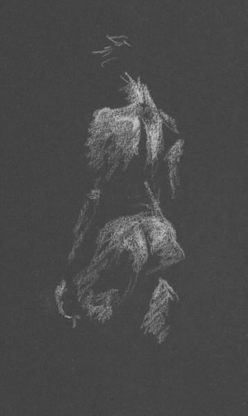 Kroki 2015 09 26 _3 Figure Drawing White Chalk Poster