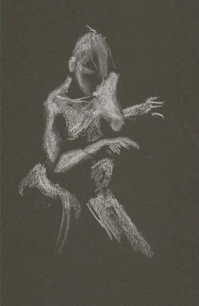 Kroki 2015 10 03_12 Figure Drawing White Chalk Poster
