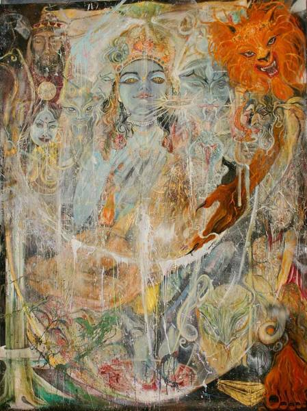 Poster featuring the painting Krsna by Brian c Baker