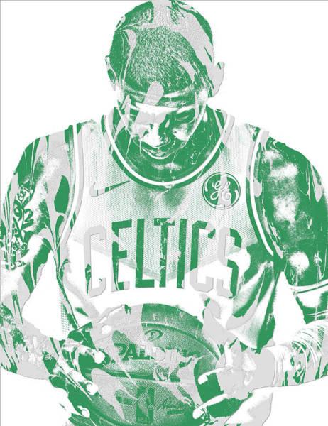 Kyrie Irving Boston Celtics Pixel Art 5 Poster