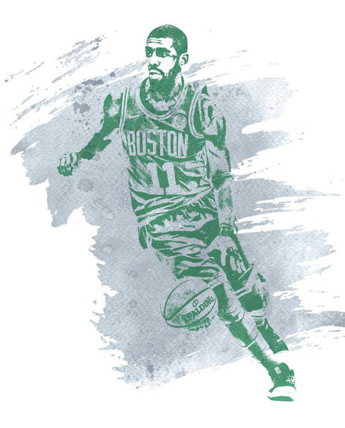 Kyrie Irving Boston Celtics Water Color Art 3 Poster
