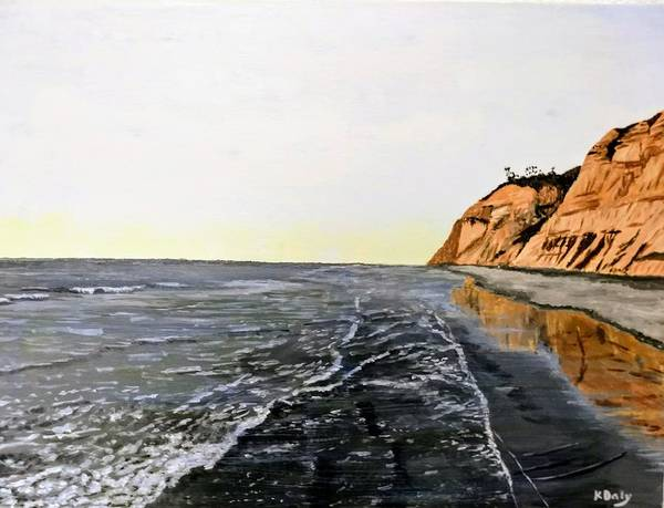 Poster featuring the painting La Jolla Shoreline by Kevin Daly