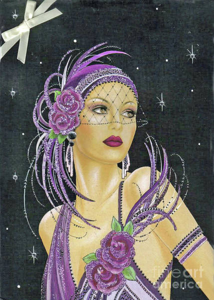 Lady In Purple Poster