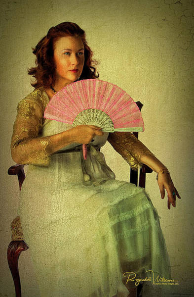 Lady With A Fan Poster