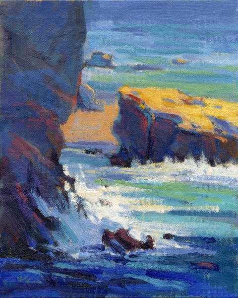 Poster featuring the painting Laguna Rocks by Konnie Kim