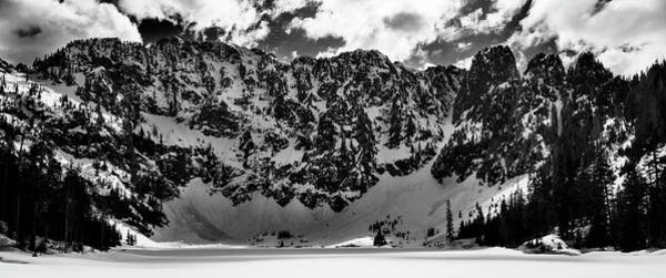 Lake 22 Winter Black And White Poster
