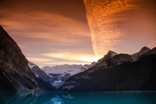 Lake Louise Sunset Poster