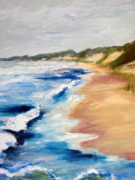 Lake Michigan Beach With Whitecaps Detail Poster