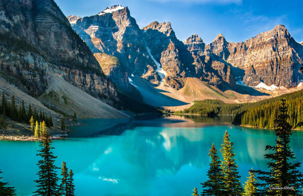 Lake Moraine Valley Of Ten Peaks Poster