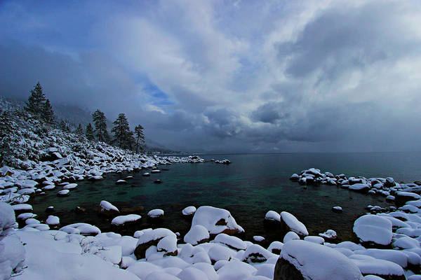 Lake Tahoe Snow Day Poster