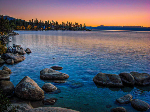 Lake Tahoe State Park Fall Sunset Poster