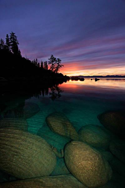 Lake Tahoe Sunset Portrait Poster
