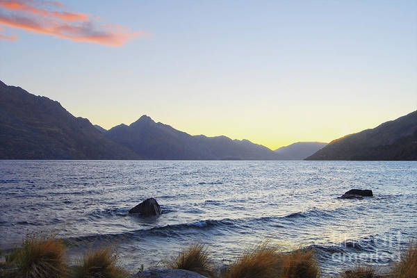 Lake Wakatipu At Sunset Poster