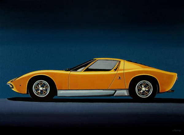 Lamborghini Miura 1966 Painting Poster