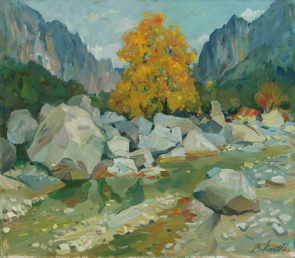 Landscape, Erzeni River, Albania Poster
