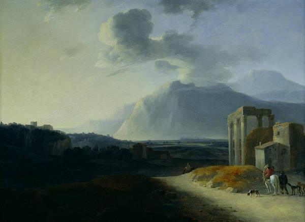 Landscape With Mount Stromboli Poster
