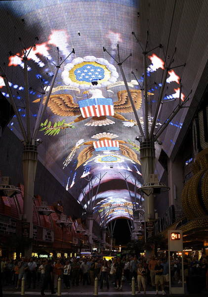 Las Vegas Street Light Show Poster