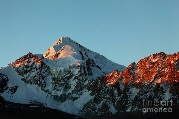 Last Light On Mt Huayna Potosi Poster