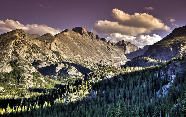 Late Summer Mountain Vista Poster