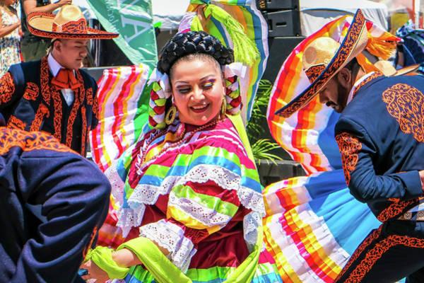 Latino Street Festival Dancers Poster