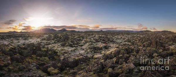 Lava Field Panorama Sunrise Poster