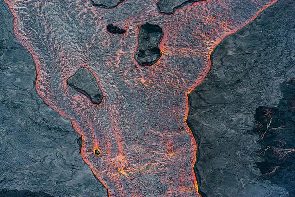 Lava River Texture Poster