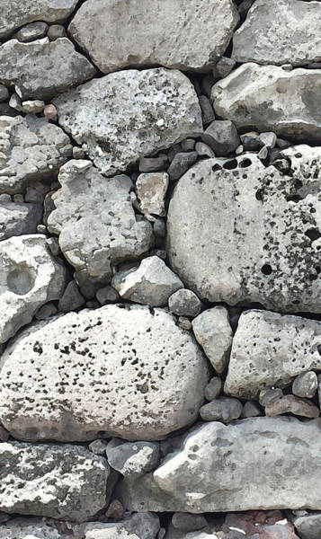 Lava Rock Wall 1 Triptych C Poster