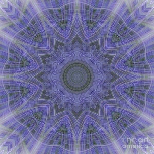 Lavender Twirl Kaleido Poster