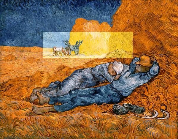 Layered 14 Van Gogh Poster