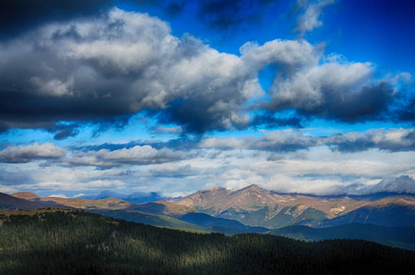 Layers Of Clouds On Mount Evans Poster