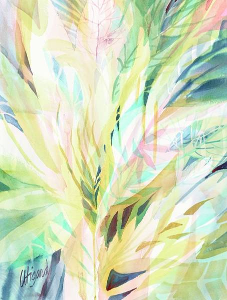 Poster featuring the painting Leafy Flora by Carolyn Utigard Thomas