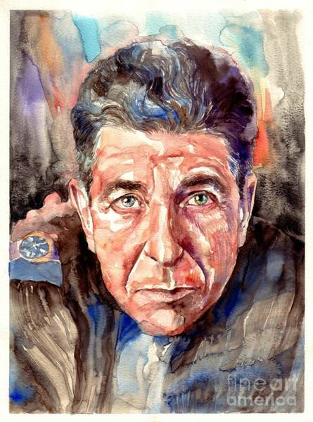 Leonard Cohen Painting Poster
