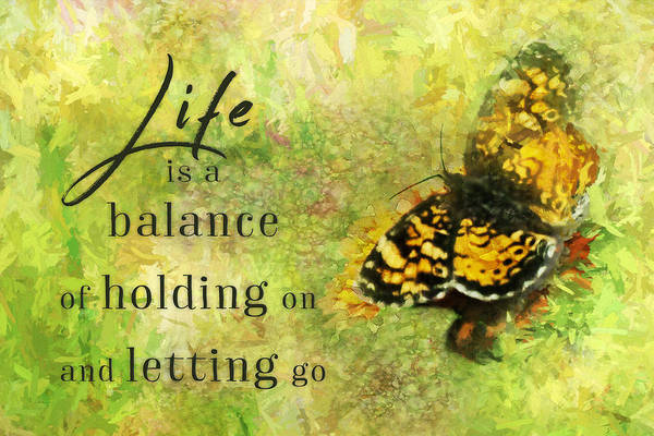 Life Is A Balance Poster