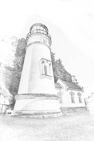 Lighthouse In Oregon Poster