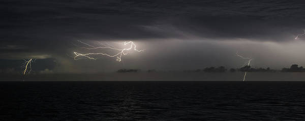 Lightning At Sea II Poster