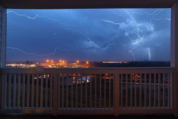 Lightning From The Balcony Poster