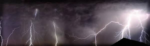 Lightning Over Perris Poster
