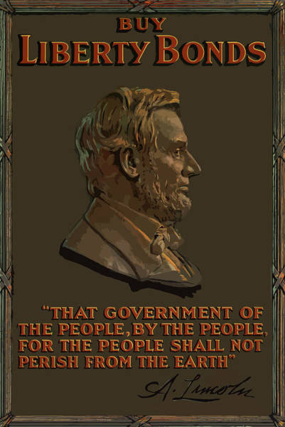 Lincoln Gettysburg Address Quote Poster