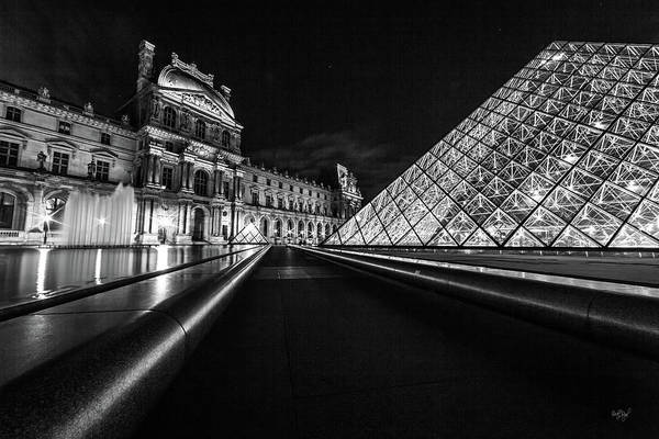 Lines Of The Louvre Poster