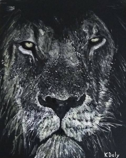 Poster featuring the painting Lion by Kevin Daly