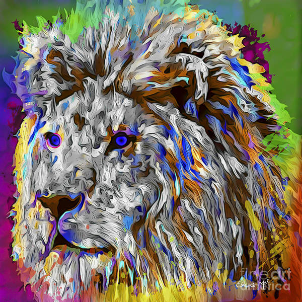 Poster featuring the digital art Lion King by Eleni Mac Synodinos
