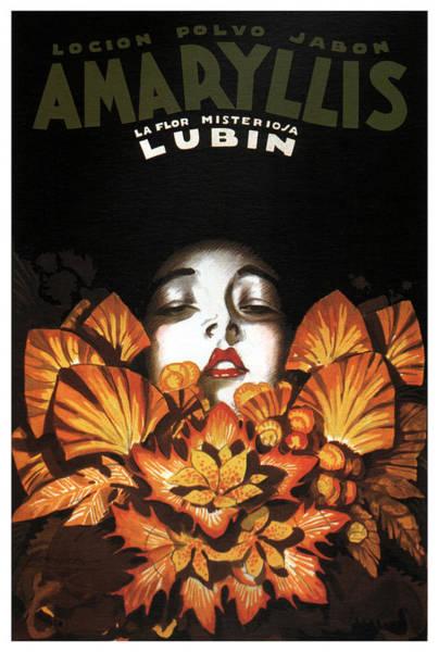 Locion Polvo Jabon Amaryllis - Vintage Lotion Advertising Poster Poster