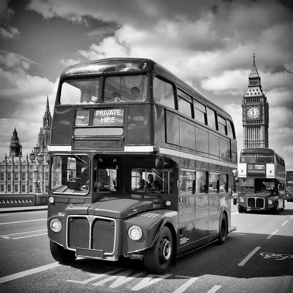 London Classical Streetscene Poster