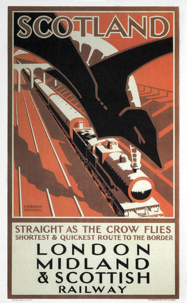 London Midland And Scottish Railway Vintage Travel Poster