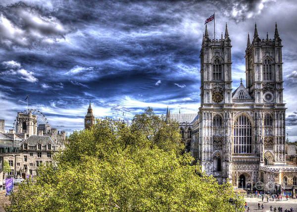 London Westminster Abbey Surreal Poster