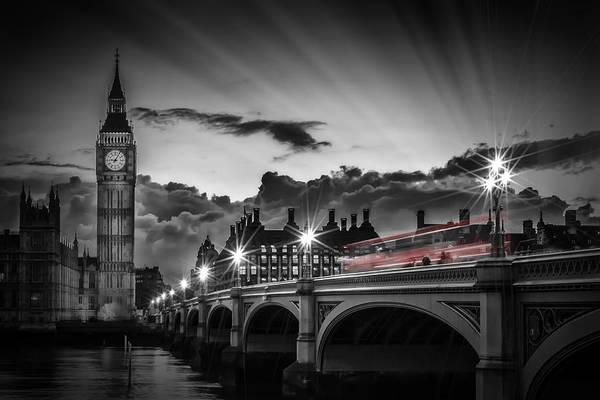 London Westminster Bridge At Sunset Poster