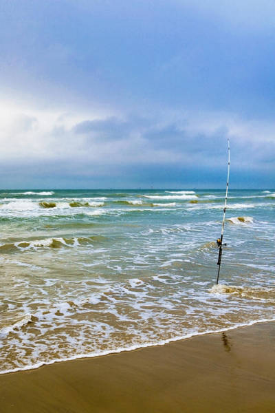 Lone Fishing Pole Poster