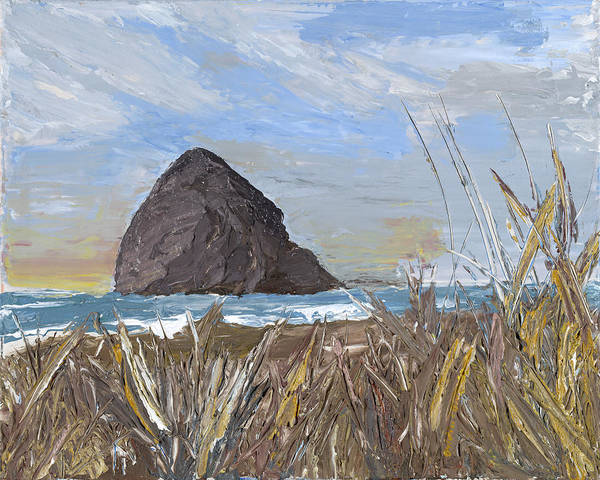 Longing For The Sounds Of Haystack Rock Poster