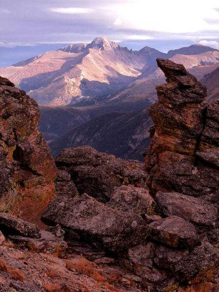 Longs Peak From Rock Cut  Poster