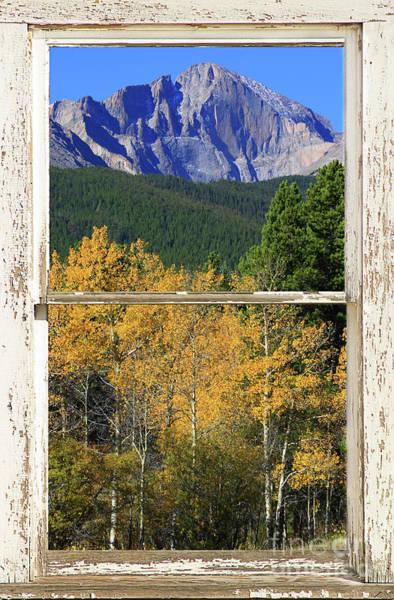 Longs Peak Window View Poster